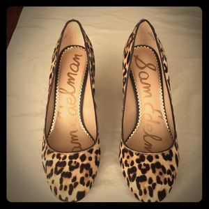 Sam Edelman Leopard Heel. Size 7
